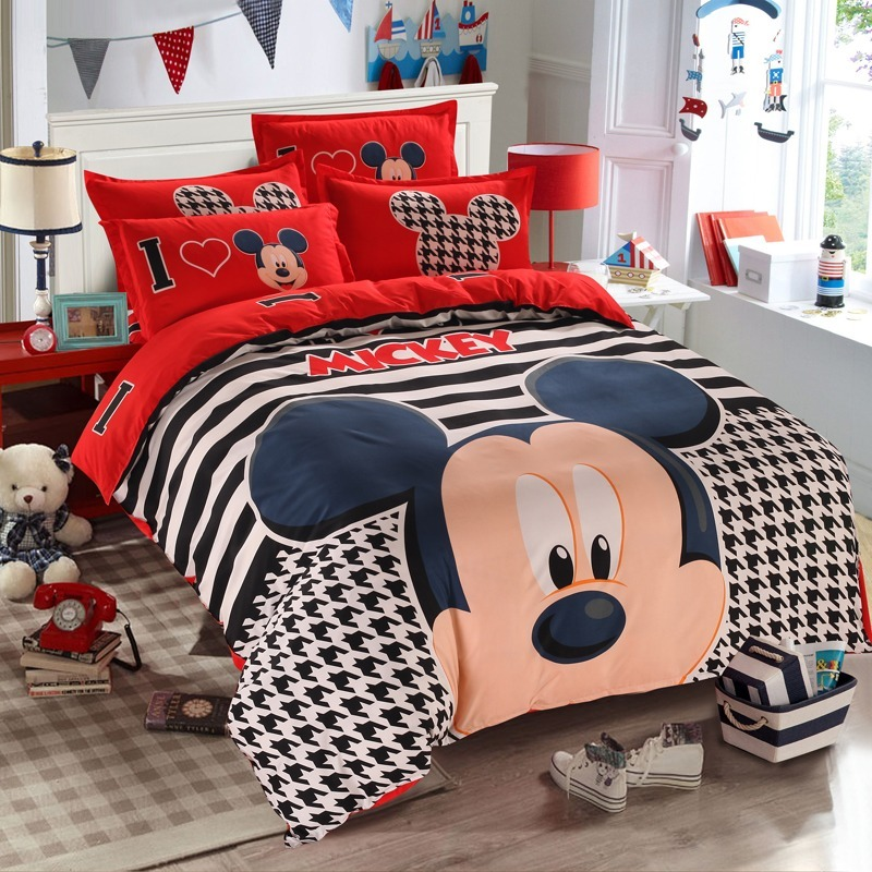 2542037f76 3pcs Mickey Mouse Edredon150x210cm+lençol 1+fronha 50x75cm - R  220 ...