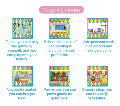 3*tamagotchi cartoon electronic pet game handheld virtual pe