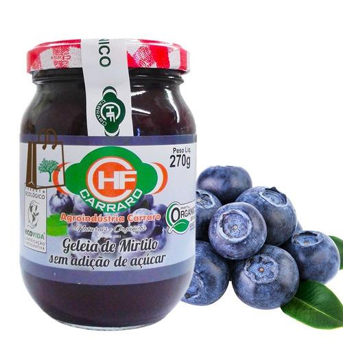3un geléia mirtilo orgânico frutas inteiras s açúcar carraro