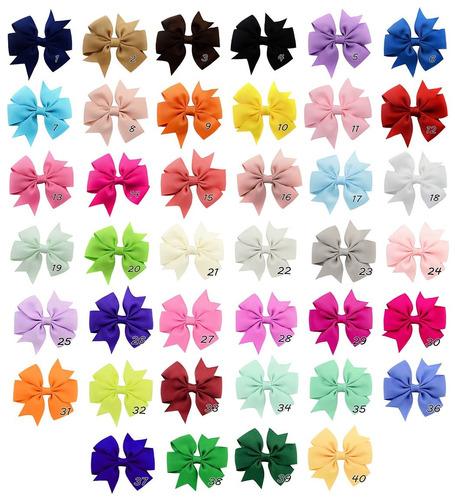 3un laço para cabelo infantil adulto com jacaré várias cores