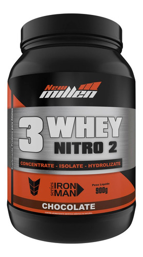 3w whey protein nitro2 - 900g - new millen