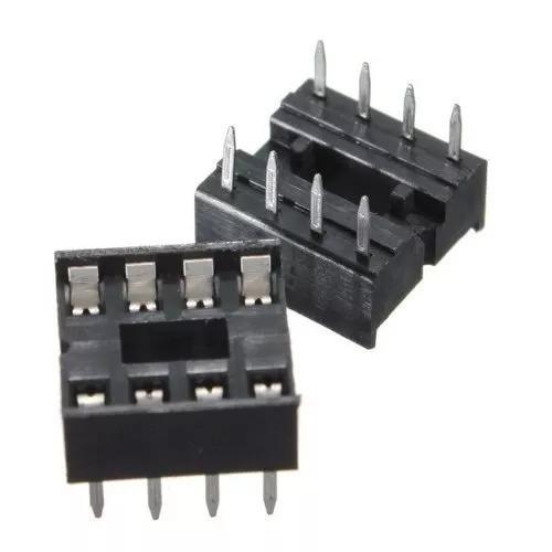3x adaptador soquete dip 8 pinos socket ci 8pin dip8 cód175