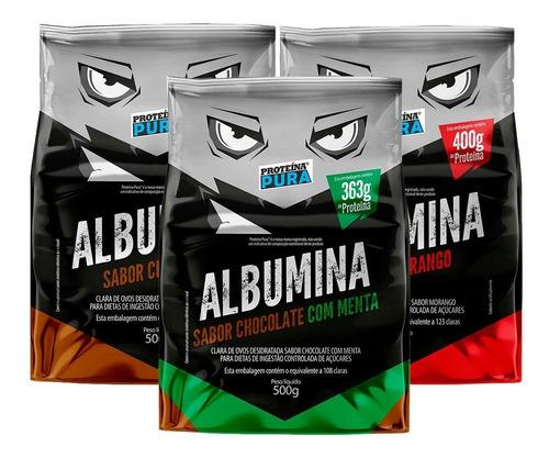 3x albumina - 1500g - proteína pura - 7 sabores diferentes