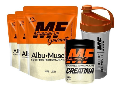 3x albumina 450g + creatina 300g + coq musclefull