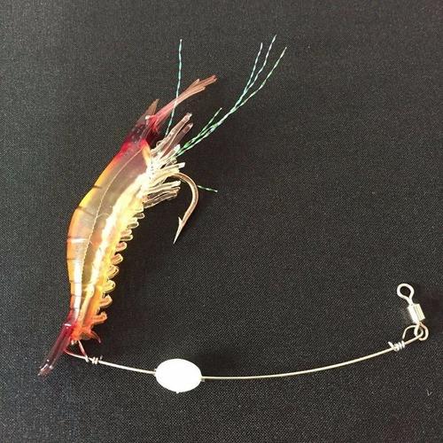 3x anzuelo camarón realista pesca deportiva señuelo cebo