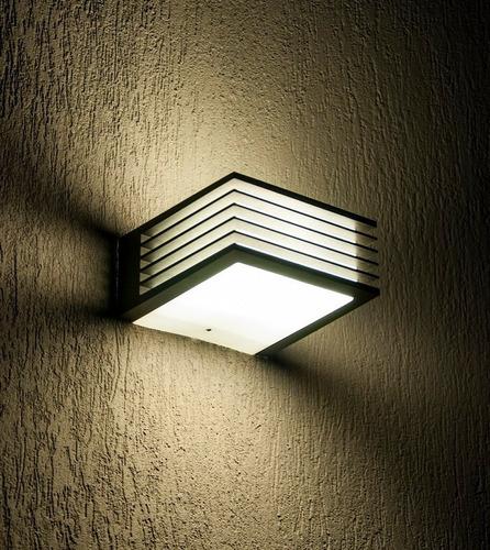 3x aplique de pared exterior luz led tortuga bidireccional jardín