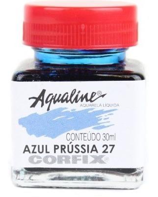 3x aqualine aquarela líquida aerografia corfix 30ml azul prú