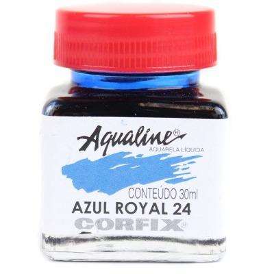 3x aqualine aquarela líquida aerografia corfix 30ml azul roy