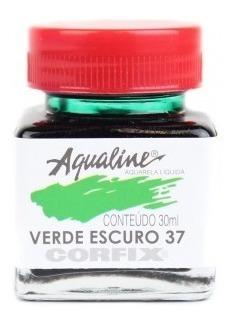 3x aqualine aquarela líquida aerografia corfix 30ml verde es