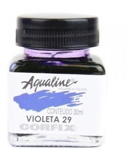 3x aqualine aquarela líquida aerografia corfix 30ml - violet