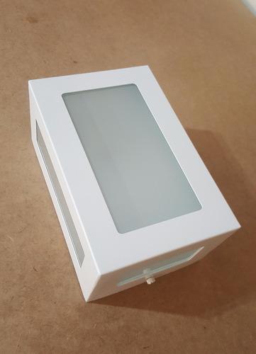 3x arandela 5 vidros alumínio uso externo e interno ms632