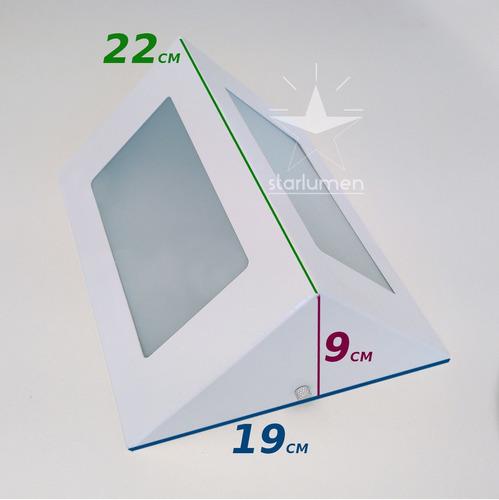3x arandela led triangulo com lâmpada externa alumínio st532