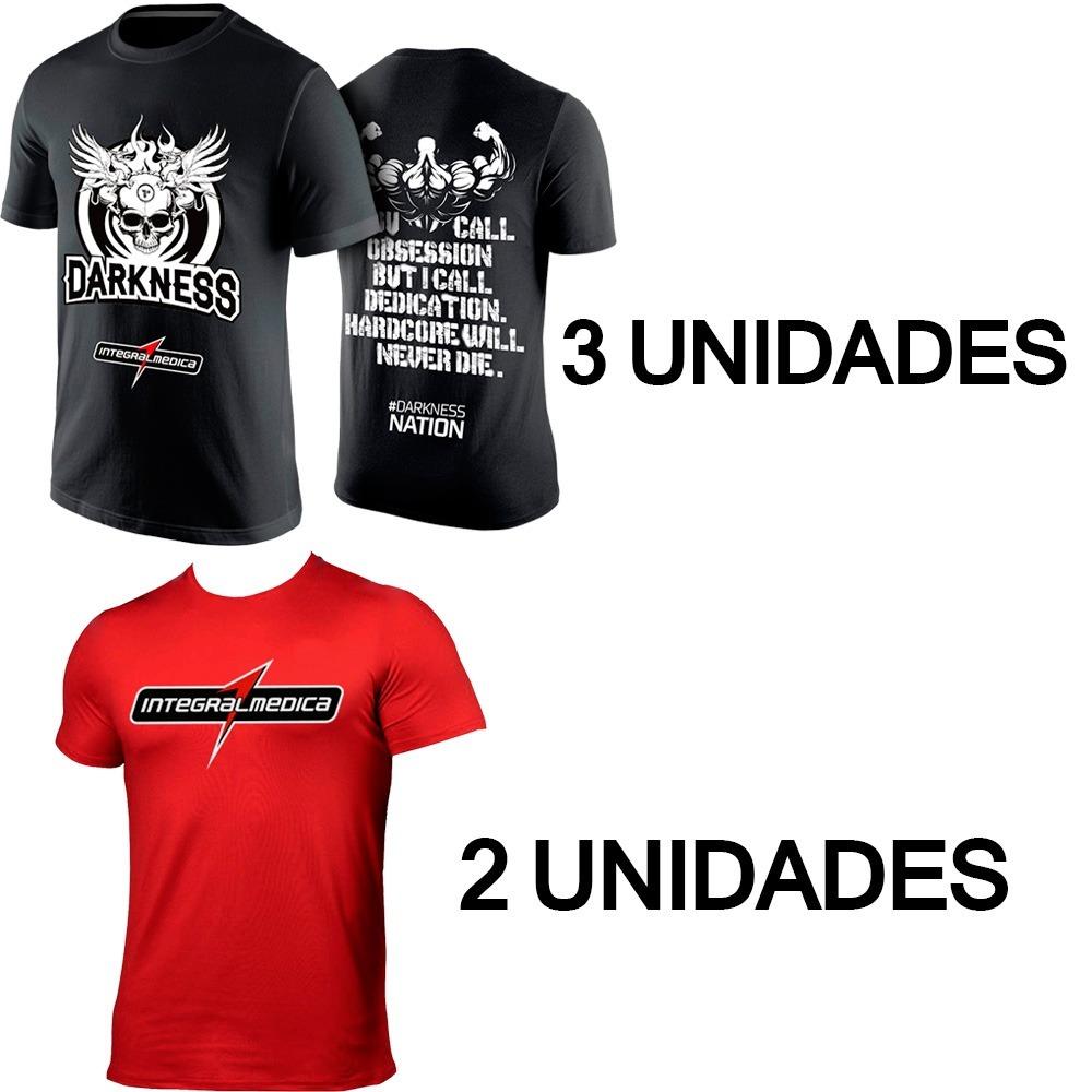 146c4665df 3x Camiseta Darkness + 2 Camiseta Vermelha Integralmedica - R  190 ...
