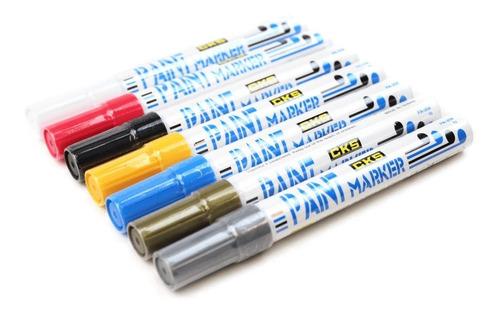 3x caneta permanente paint marker cks preto pinta rejunte
