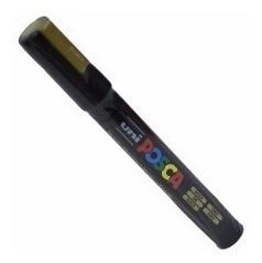 3x caneta posca uni ball ouro dourada pc-5m
