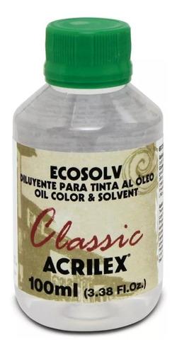 3x diluente sem cheiro ecosolv classic acrilex 100ml