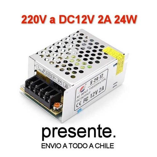3x fuente de poder 12v 2a 24w cintas led cámaras