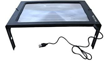 3x hands-free full page usb reading magnifier with 12led lig