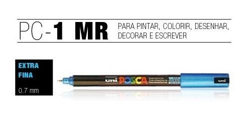 3x kit caneta marca desenho posca uni ball pc-1m pc-3m pc-5m