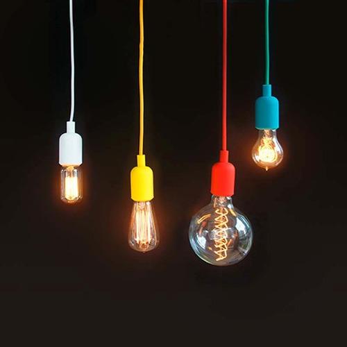 3x lâmpada vintage retrô - t. edison - filamento de carbono