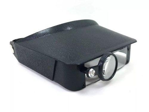 3x lupa de cabeça com 3 lentes de aumento viseira testeira