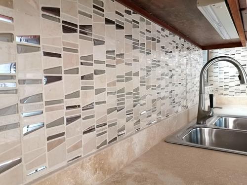 3x malla mosaico decorativa cenefa vidrio marmol vidrio gala
