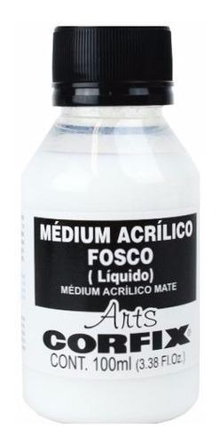 3x médium acrílico fosco corfix arts 100ml (líquido)