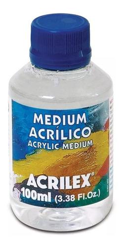 3x medium acrilílico acrilex 100ml