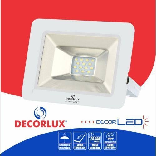3x mini refletor decolux led 10w bivolt slim ip65 holofote