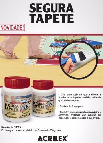 3x segura tapete resina antiderrapante acrilex 250gr
