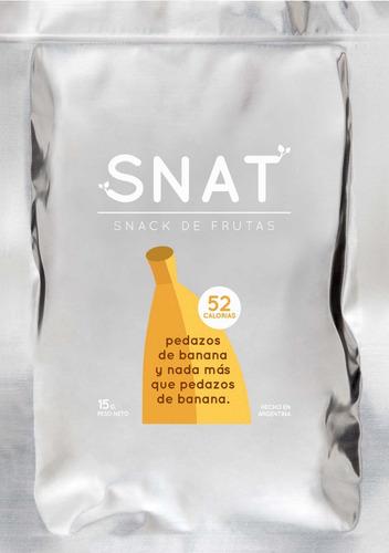 3x snack saludable liofilizado de banana snat 10g sin tacc