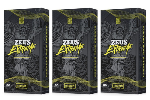 3x zeus extreme 60 comprimidos - iridium labs + brinde