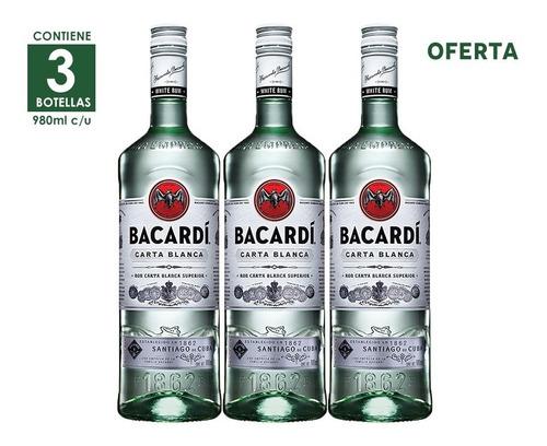 3x2 ron bacardi blanco - 980 ml