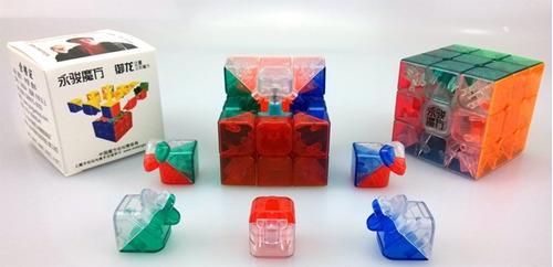 3x3x3 yj yulong transparente cubo mágico rubik speedcubing!