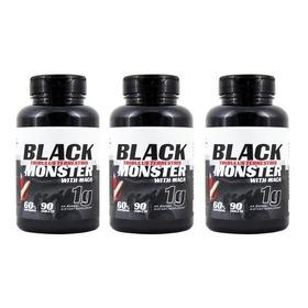 3xtribulus Terrestris Black Monster Com Maca 1000mg Importad