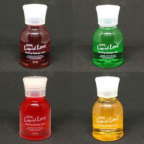 4 aceites para masajes con calor y sabor (30ml) sexram
