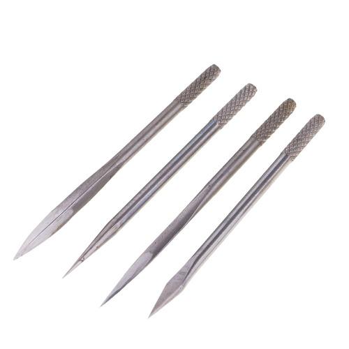 4 agujas de mango de madera coser herramientas de reparació