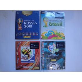 4 Álbuns Da Copa Do Mundo 2006 2010 2014 2018 - Completos