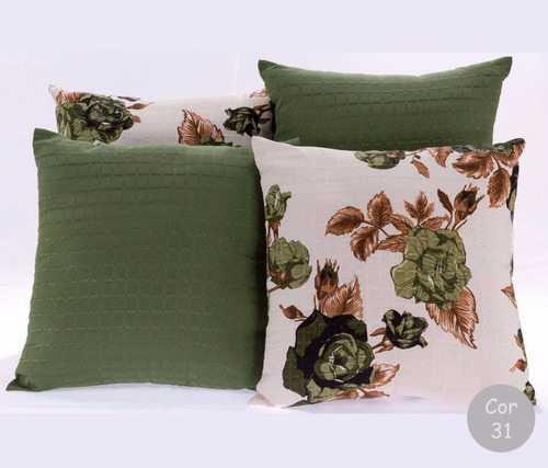 4 almofada lindas  decorativas cheias com zip