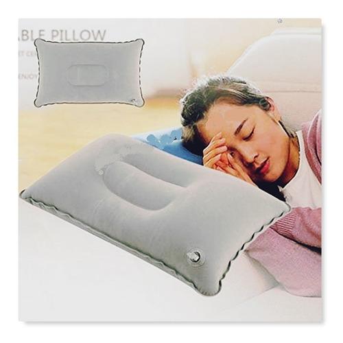 4 almohada inflable para viaje gris cojin portatil