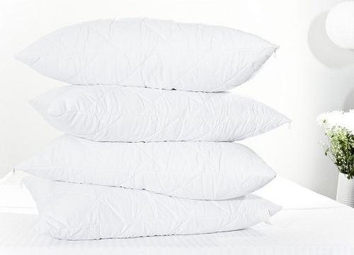 4 almohadas en fibra 100% siliconada