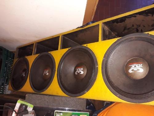 4 alto falantes na caixa para saveiro ou s10