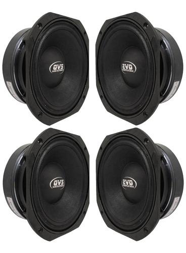 4 alto falantes qvs 8 polegadas 400rms medio grave 96db