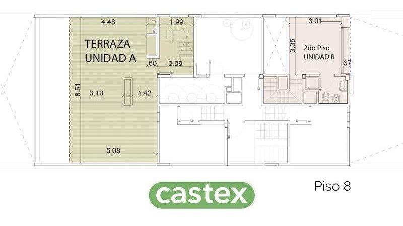 4 ambientes a la venta en maison thames, palermo