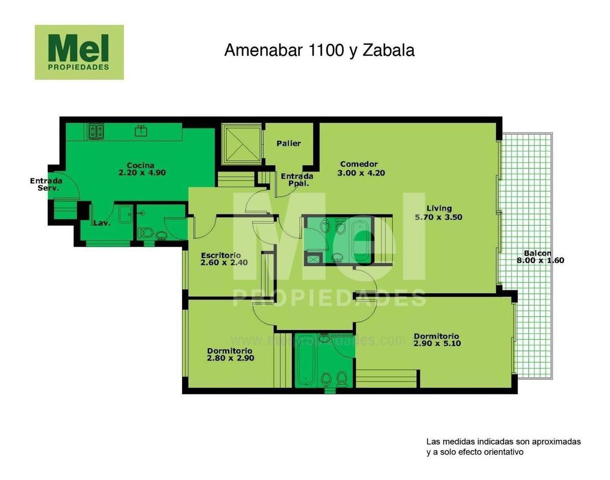 4 ambientes con dependencias. y cochera a 2 cerca de cabildo