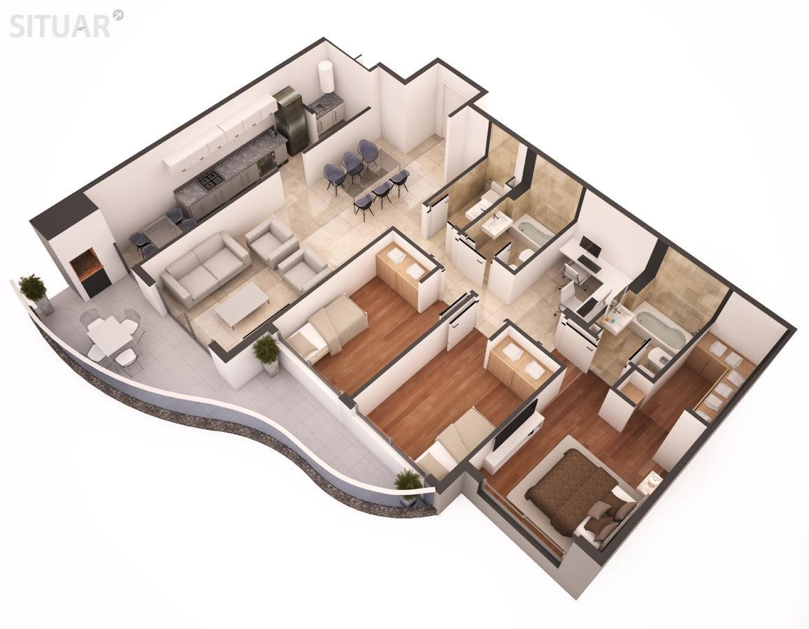 4 ambientes en caballito con parrilla individual. edificio con amenities