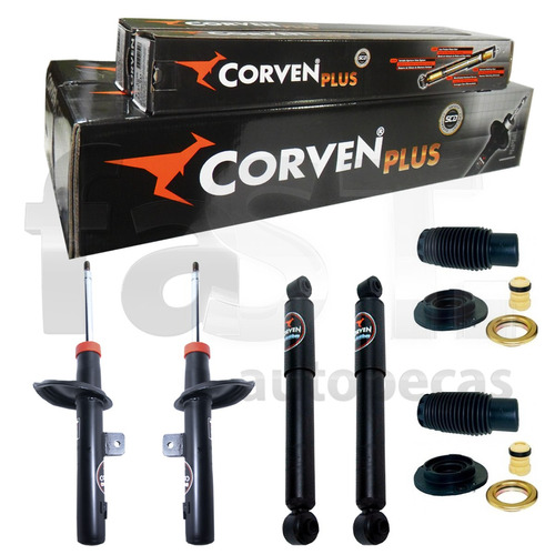 4 amortecedores corven 206 1.4 1.6 + kit suspensão