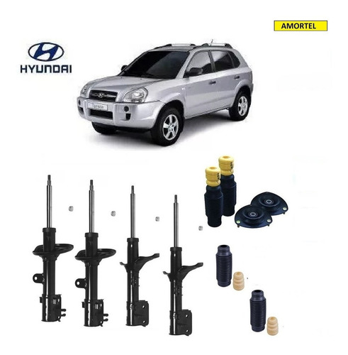 4 amortecedores + kits batentes do hyundai tucson ano 05/16
