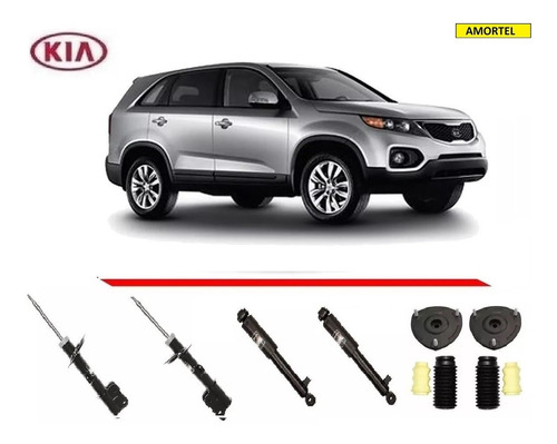 4 amortecedores + kit´s batentes do kia sorento ano 10/13