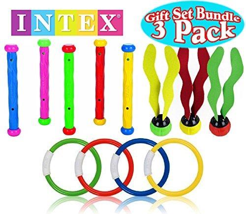(4 anillos) los anillos intex juguetes de piscina natación